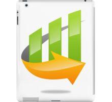 chart-grow-with-arrow iPad Case/Skin
