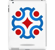circle-connection-abstract-logo iPad Case/Skin