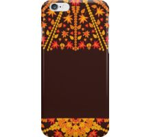 card with an ornament from autumn leaves iPhone Case/Skin