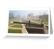 Thames Lock in Fog Greeting Card