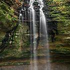 Tannery Falls - Munishing, Michigan by Kenneth Keifer