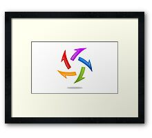 circle-arrow-abstract-logo Framed Print