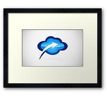 cloud-with-arrow-logo Framed Print