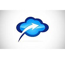 cloud-with-arrow-logo Photographic Print