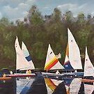 Myrick - Timberlake Sail Boats by Jon Winston