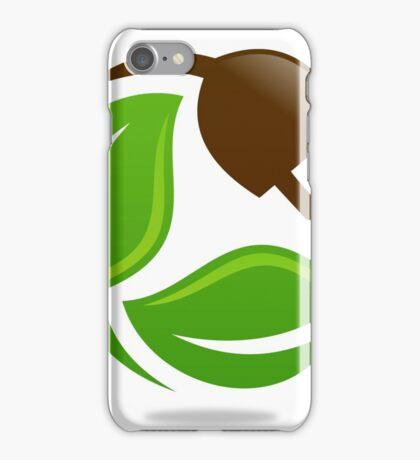 eco-electric-leaf-logo iPhone Case/Skin