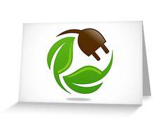 eco-electric-leaf-logo Greeting Card