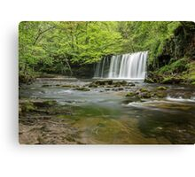 Upper Gushing Falls, Brecon Beacons Canvas Print