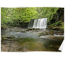 Upper Gushing Falls, Brecon Beacons Poster
