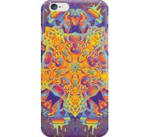 Psychedelic jungle kaleidoscope ornament 21 iPhone Case/Skin