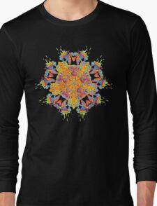 Psychedelic jungle kaleidoscope ornament 21 Long Sleeve T-Shirt