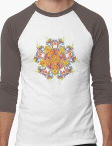 Psychedelic jungle kaleidoscope ornament 21 Men's Baseball ¾ T-Shirt