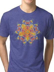 Psychedelic jungle kaleidoscope ornament 21 Tri-blend T-Shirt