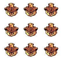 Pattern-Bone Bear Skull by TGIJAKE