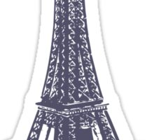 Purple Eiffel Tower Sticker