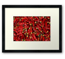 Dried chilli Framed Print