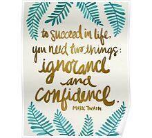 Ignorance & Confidence #1 Poster