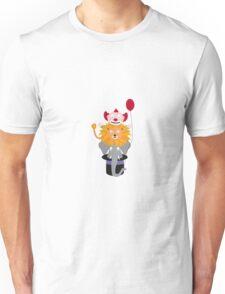 Clown Lion and Elephant Unisex T-Shirt