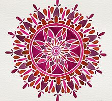 Red Mandala by Cat Coquillette