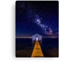 The Boatshed and the Galaxy Canvas Print