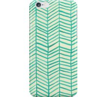 Mint Herringbone iPhone Case/Skin