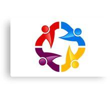 circle-people-workteam-logo Canvas Print