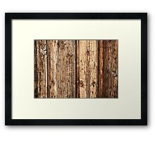 Wood texture Framed Print