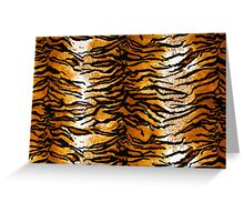 Tiger Print Background Greeting Card