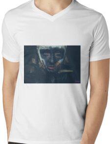 Faux Mens V-Neck T-Shirt