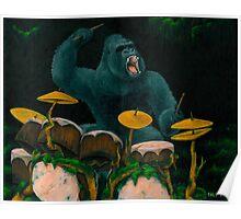 Gorilla Jungle Drums Poster