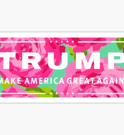 Preppy Trump Logo Lily Inspired Sticker