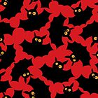 Halloween seamless pattern with funny bats. by Richard Laschon