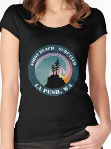 First Beach Surf Club Women's Fitted Scoop T-Shirt