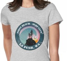 First Beach Surf Club Womens Fitted T-Shirt