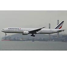 Air France 777-300ER Landing in HKG Photographic Print