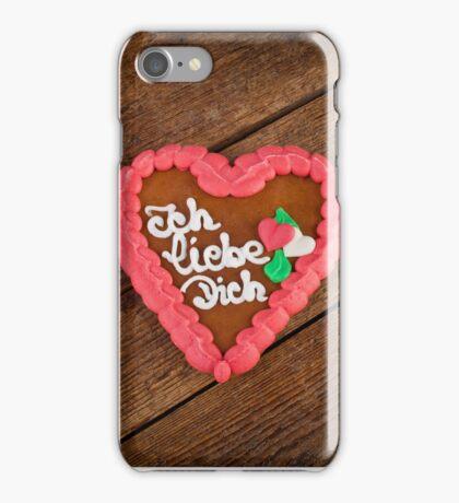 Lebkuchenherzen gingerbread Heart cookie iPhone Case/Skin