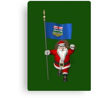 Santa Claus Visiting Alberta Canvas Print