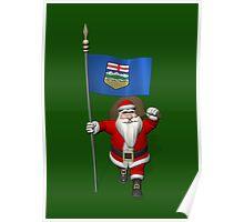Santa Claus Visiting Alberta Poster