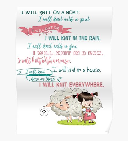 I Will Knit  Poster