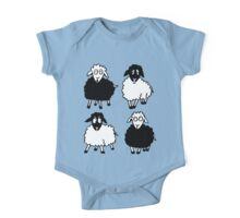 New Zealand four cartoon sheeps having a chat One Piece - Short Sleeve