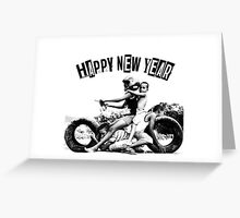 happy new yaer-motorcycle Greeting Card