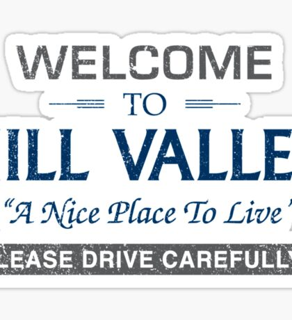 Welcome To Hill Valley Sticker