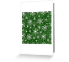 seamless pattern with flowers on a green background grunge Greeting Card