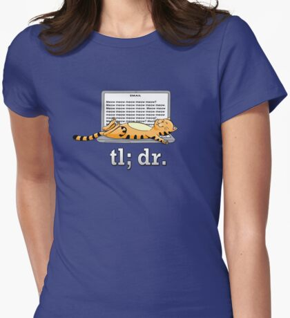 Too long; didn't read (Blue) Womens Fitted T-Shirt