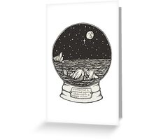 Mermaid Snow Globe  Greeting Card