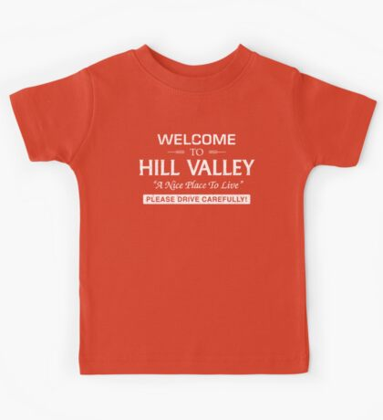 Welcome To Hill Valley (White) Kids Tee
