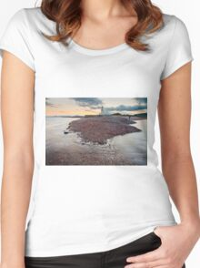 Chanonry Point Beach Women's Fitted Scoop T-Shirt