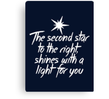 The Second Star to the Right Canvas Print