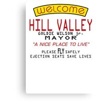Welcome To Hill Valley (Future) Canvas Print