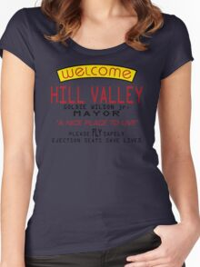 Welcome To Hill Valley (Future) Women's Fitted Scoop T-Shirt